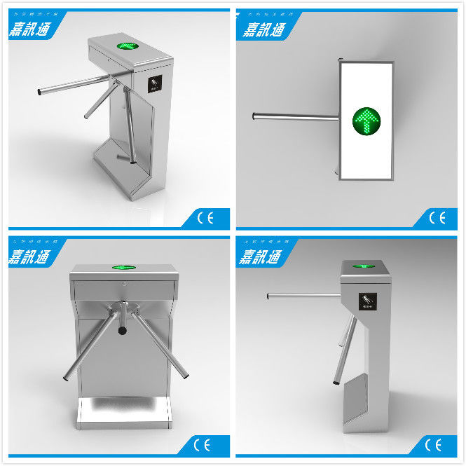 Electric Waist Height Drop Arm Turnstile Comapct Safety Mechanical Tripod Turnstile Gate