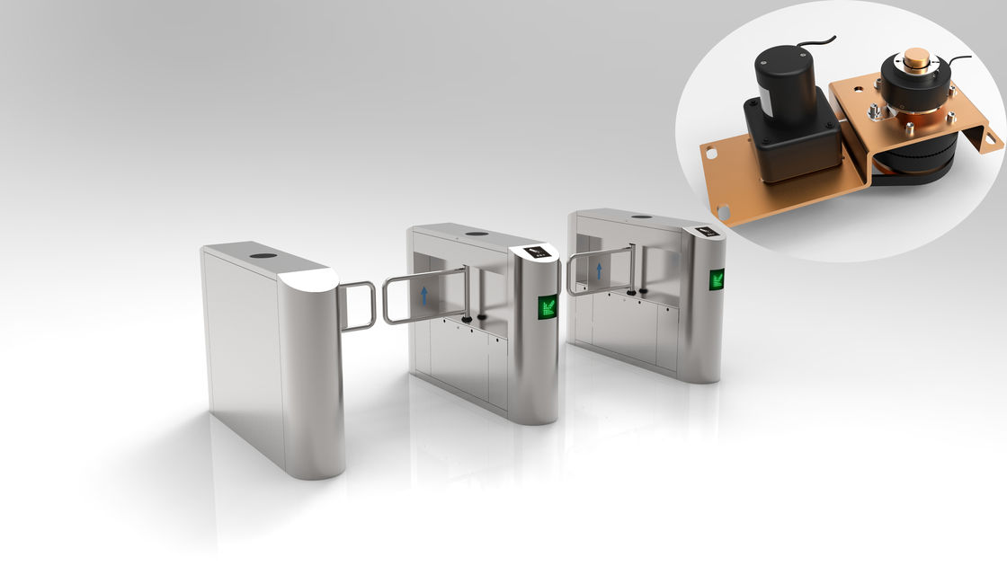 Disable Channel Turnstile Security Doors , Turnstile Barrier Gate 304 Stainless Steel
